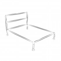 Barbican industrieel bed frame set - Eenpersoons